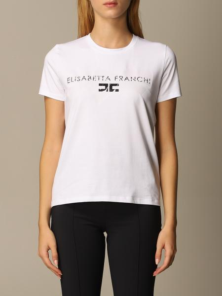 Elisabetta Franchi cotton t-shirt with logo