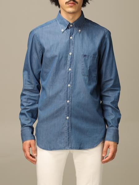 Denim button down slim