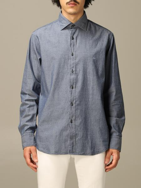 Chambray collo italiano regular lavato