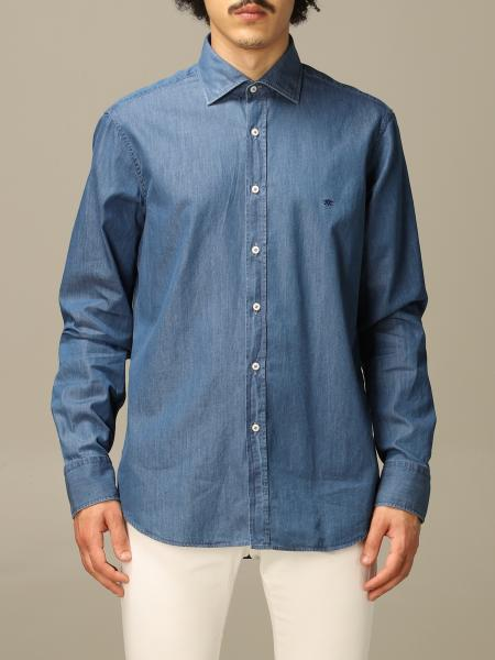 Denim collo italiano regular lavato