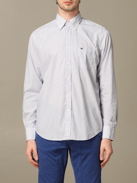 Button down regular lavato con pince riga