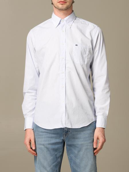 Button down regular lavato con pince micro riga