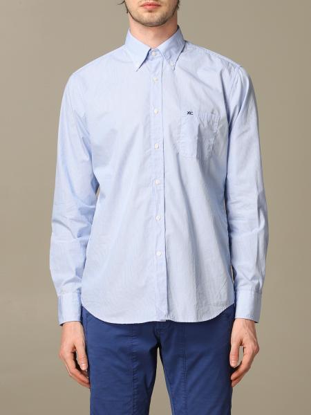 Button down regular lavato con pince micro quadro