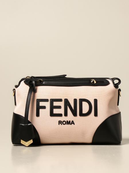 Fendi: Bauletto By the way Fendi in canvas e pelle