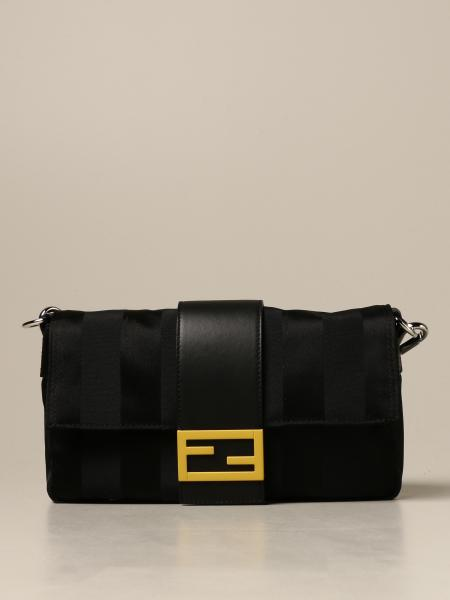 Baguette Fendi bag / waist pouch in nylon and leather