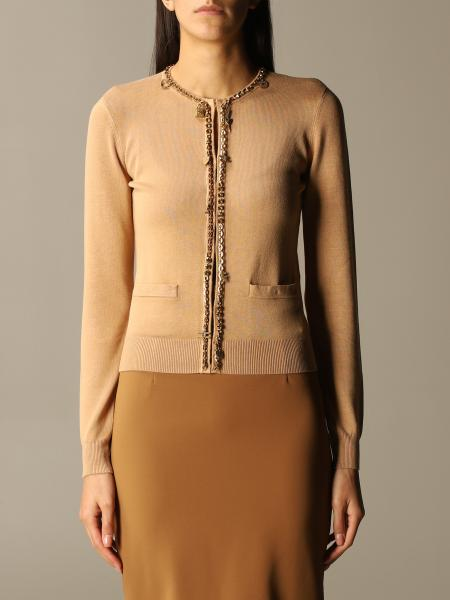 Elisabetta Franchi cardigan with chain edges