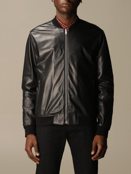 Golden Goose: Golden Goose leather bomber with zip
