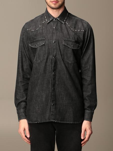 Golden Goose: Golden Goose denim shirt with studs