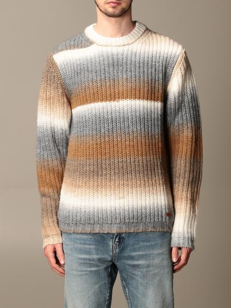 Golden Goose: Golden Goose pullover in wool and Alpaca blend with gradient bands