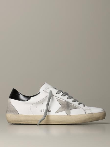 Sneakers Superstar Golden Goose in pelle e camoscio