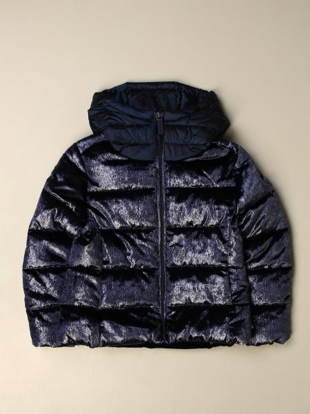 Invicta: Vitrified velvet down jacket with hood