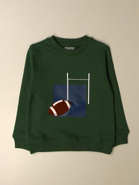 Il Gufo cotton sweatshirt with print and patch