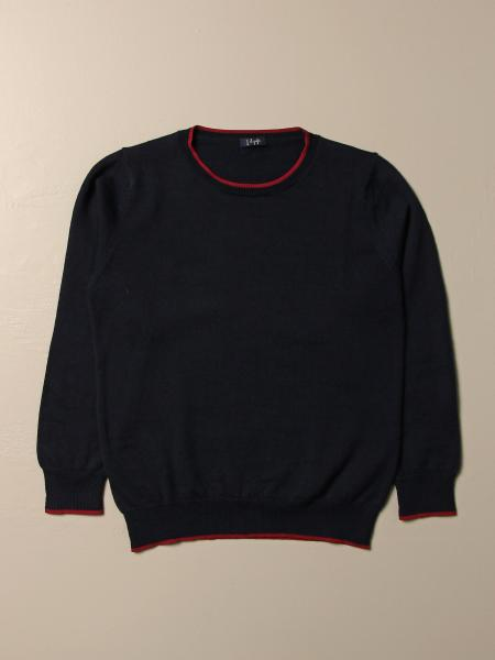 Il Gufo sweater in basic wool with contrasts