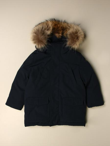 Il Gufo parka with hood and fur edges