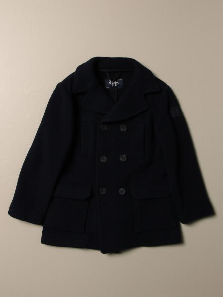 Il Gufo double-breasted coat in wool cloth
