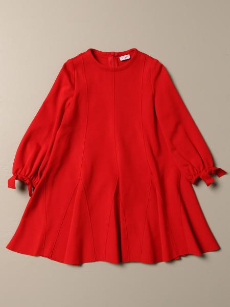 Il Gufo dress in Milano stitch with long sleeves