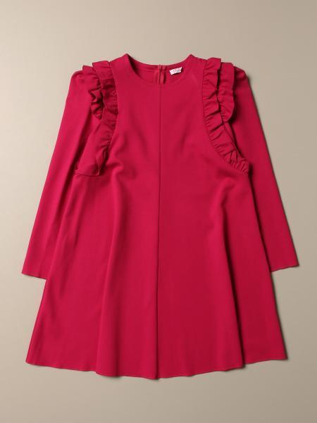 Il Gufo: Il Gufo dress in Milano stitch with long sleeves