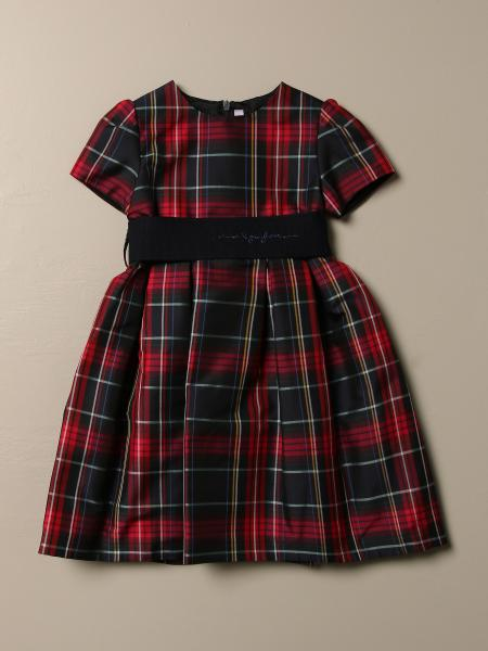 Il Gufo dress with check pattern