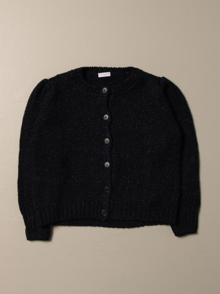 Il Gufo: Il Gufo lurex wool blend cardigan