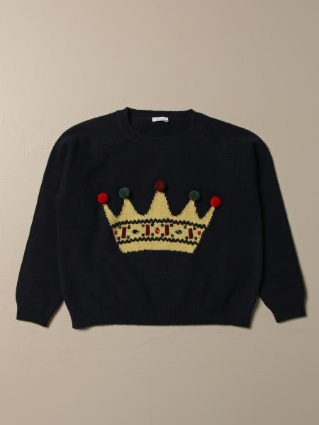Il Gufo: Il Gufo virgin wool pullover with crown