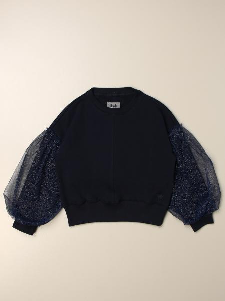 Il Gufo: Il Gufo sweatshirt with tulle sleeves