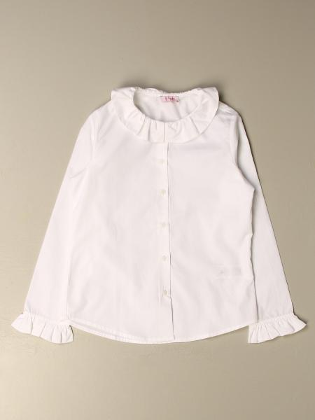 Il Gufo shirt in cotton with rouches collar