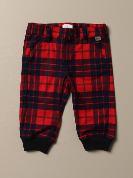 Pantalone Il Gufo check con polsini