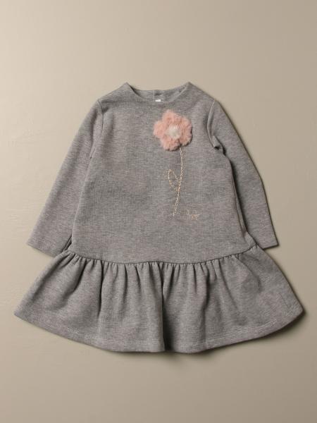 Il Gufo: Sweatshirt with fur flower