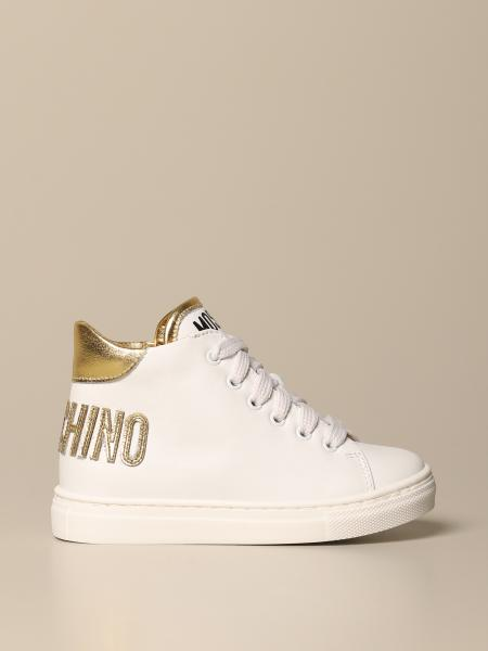 Moschino: Sneakers Moschino Baby in pelle con logo