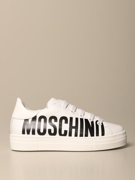 Moschino Teen sneakers in leather with logo