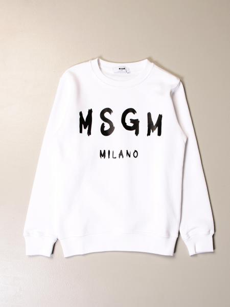 Felpa Msgm Kids in cotone con logo