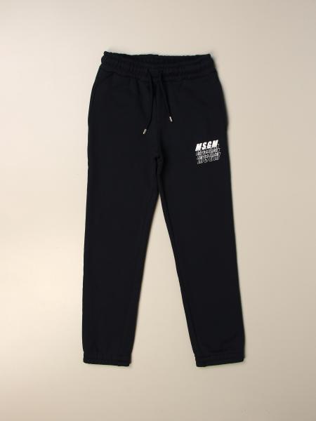 Pantalone jogging MSGM Kids con logo