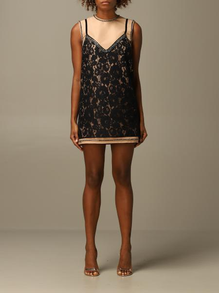 Mini dress N ° 21 in lace on taffeta