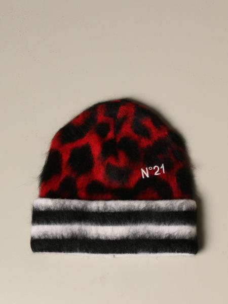 N ° 21 hat in animalier wool and Mohair