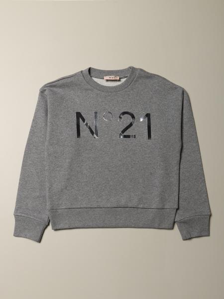 N ° 21 long-sleeved sweatshirt with logo