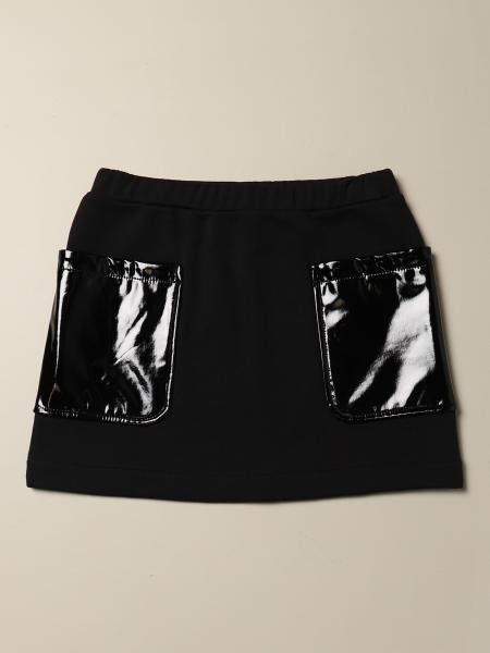 N ° 21 mini skirt in cotton and vinyl