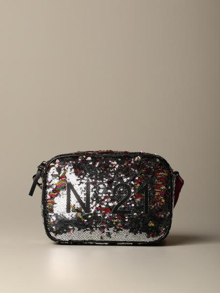 Shoulder bag N°21 in writable sequins