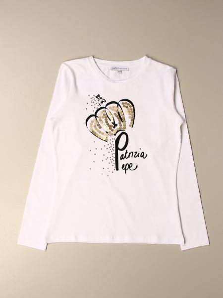 Patrizia Pepe cotton T-shirt with sequin fly logo