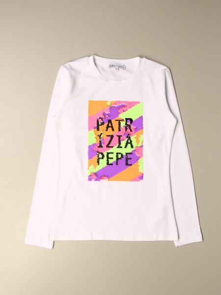 Patrizia Pepe cotton T-shirt with sequin logo