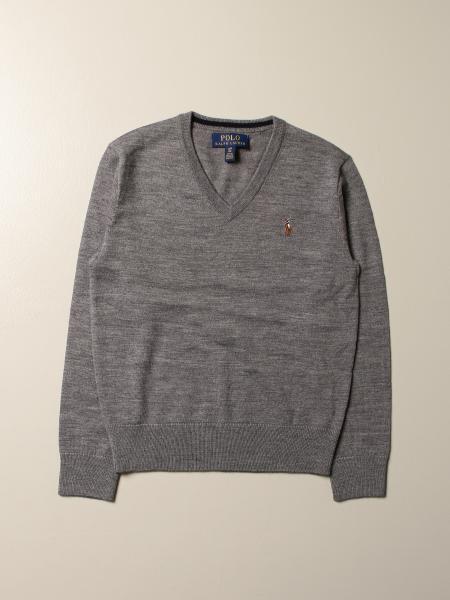Polo Ralph Lauren kids: Polo Ralph Lauren Boy v-neck sweater with logo