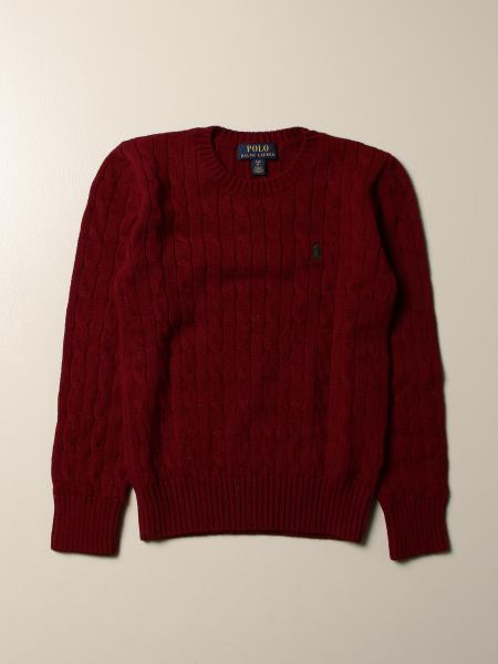 Polo Ralph Lauren kids: Polo Ralph Lauren crewneck sweater in cable-knit cashmere and wool