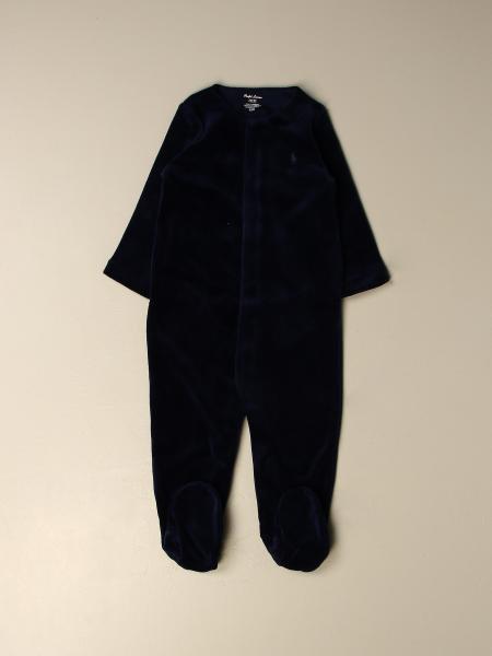 Polo Ralph Lauren bambino: Tutina con piede Polo Ralph Lauren in ciniglia