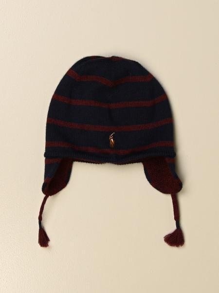 Polo Ralph Lauren Infant beanie hat in striped wool