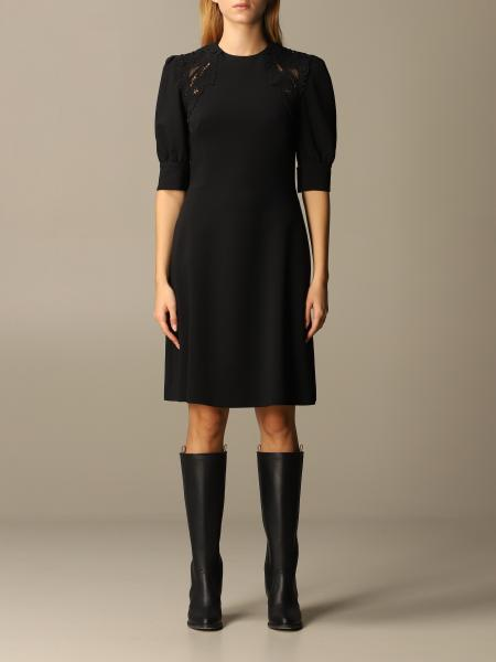 Ermanno Scervino viscose dress with lace inserts