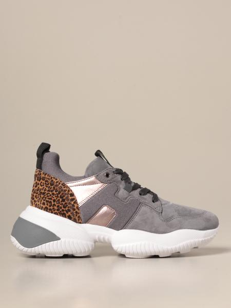 Interaction Hogan x Giglio.com Sneakers mit Leoparden Details