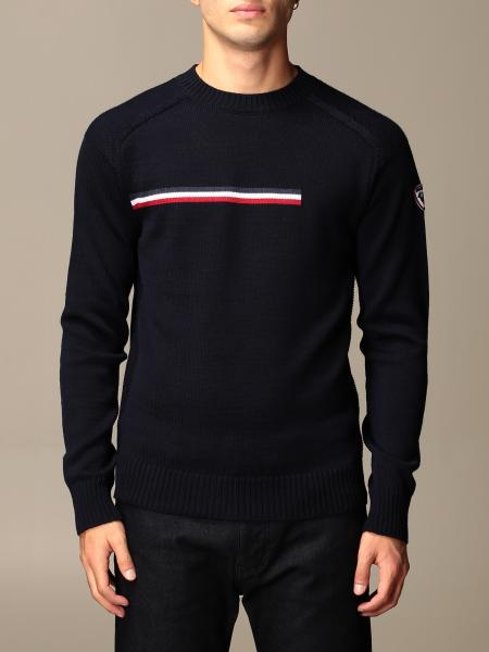 Rossignol: Odysseus Rossignol crewneck sweater with striped band