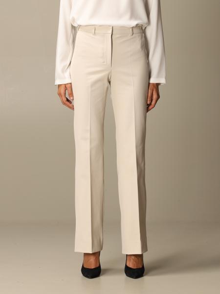 S Max Mara: Pantalone Navona S Max Mara in misto cotone stretch flare