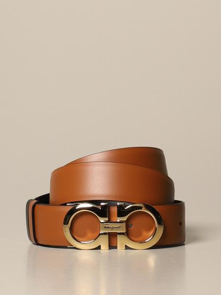 Cintura Gancini Salvatore Ferragamo in pelle reversibile