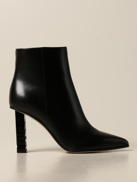 Sergio Rossi ankle boot in leather with logo heel