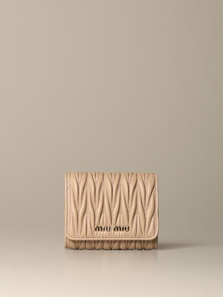 Miu Miu wallet in matelassé leather